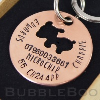 Pet Dog Name Tag with optional matching owner necklace.