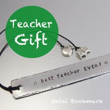 Teacher Gift Metal bookmark