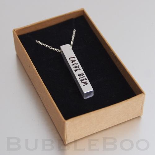 Aluminium Square Bar Necklace