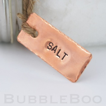 Copper Pantry Tags - Set of 4