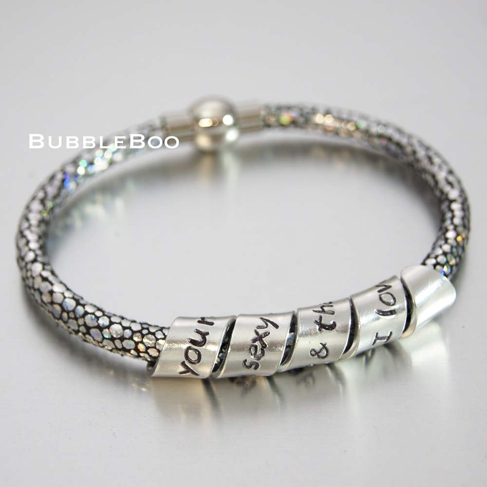 Vegan Secret Message Sparkle bracelet