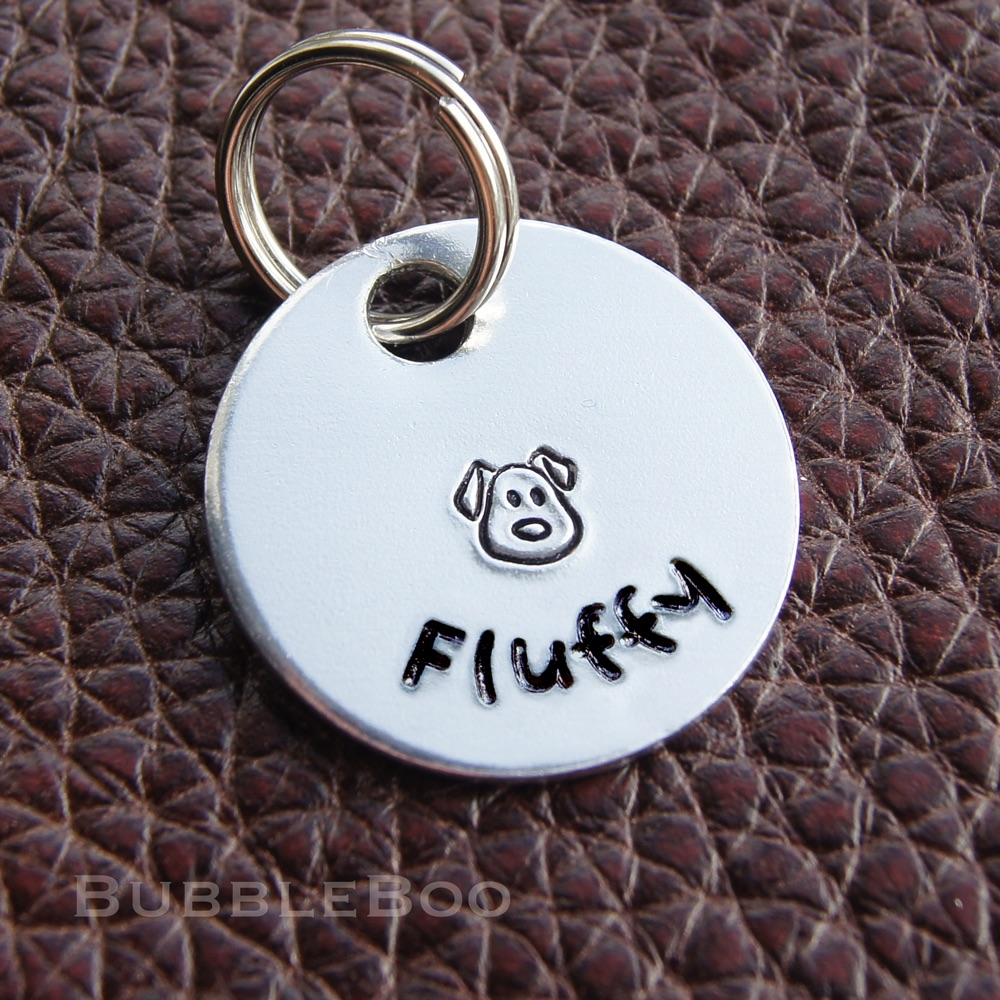 Dog Id Tag. Dog or puppy name tag.