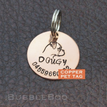 Pet Dog Id Tag - Boxer Dog -  American Boxer  - Bulldog