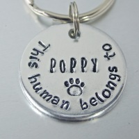 This Human belongs to Keyring, personalised with pet name