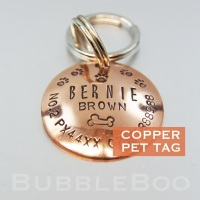 Pet Name Tag with Pawprints and Bone.