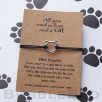 Cat Wish Bracelet - All You Need Is Love....And A Cat