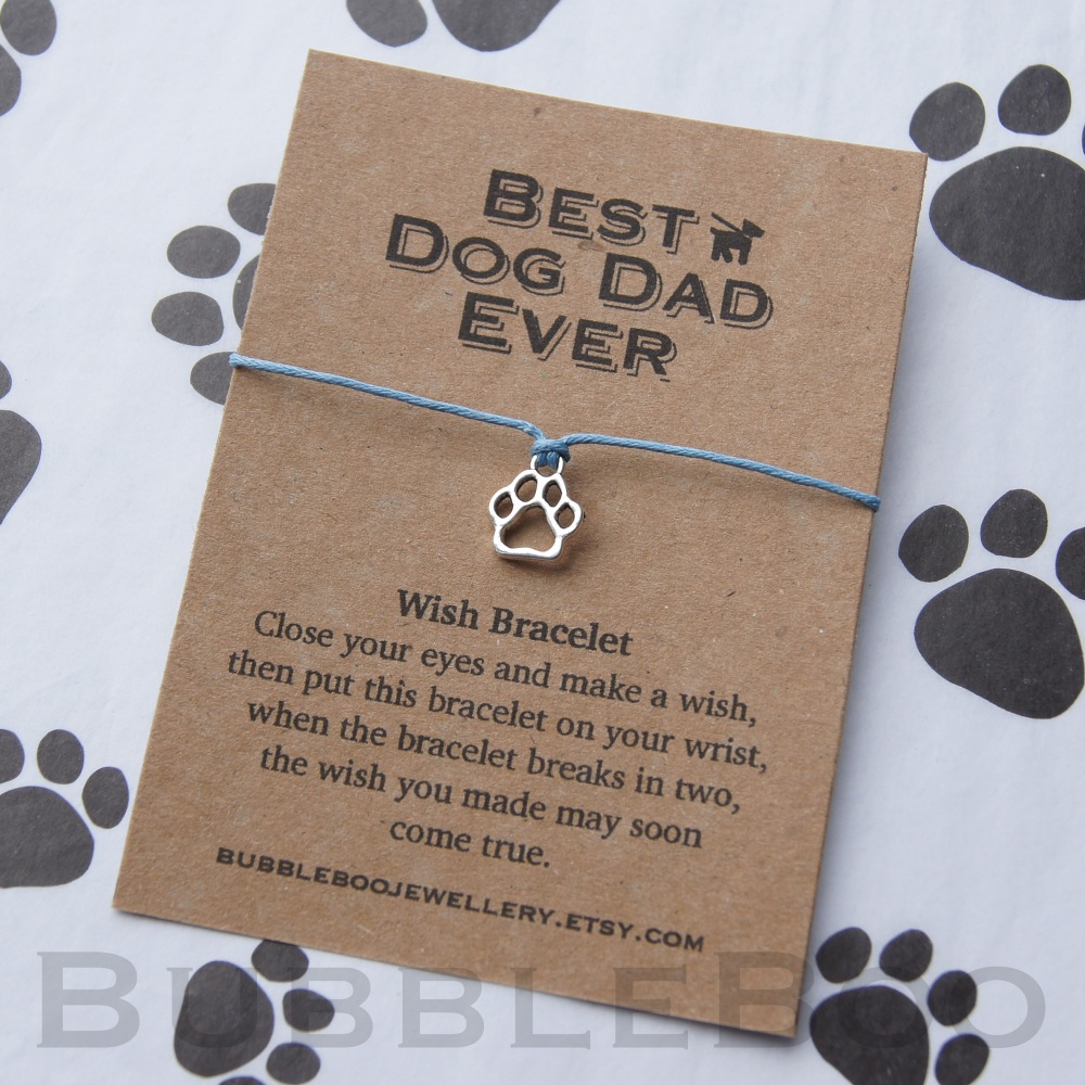 Best Dog Dad Ever Wish Bracelet