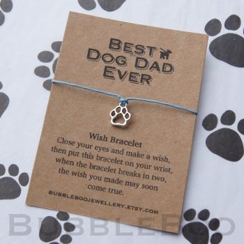 Best Dog Dad Ever Wish Bracelet