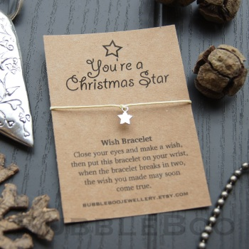 You're A Christmas Star Wish Bracelet