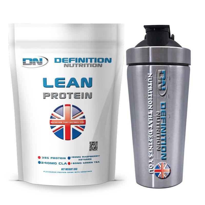 Lean Protein 3kgs (6.6lbs) 75 Servings + Shaker