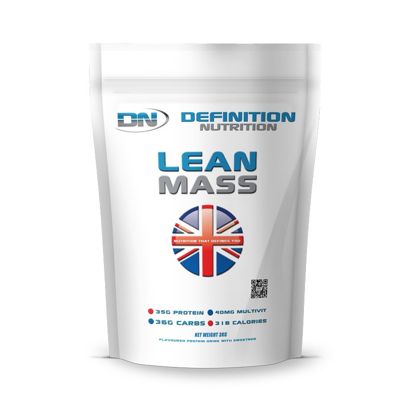 Definition Lean Mass 318 calories 3kgs (6.6lbs)