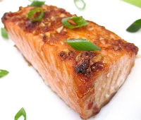 ginger salmon steak
