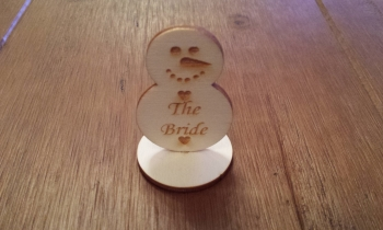 Wooden Snowman Table Name Plaques
