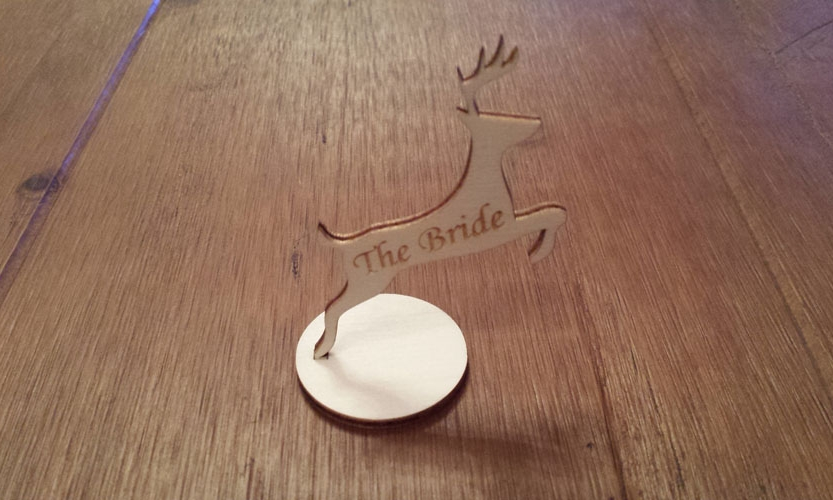 Wooden Reindeer Table Name Plaques
