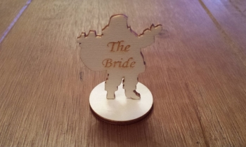 Wooden Santa Table Name Plaques