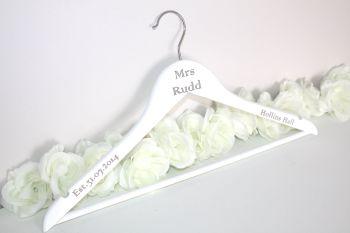 Mr & Mrs Peronalised Bride Hanger