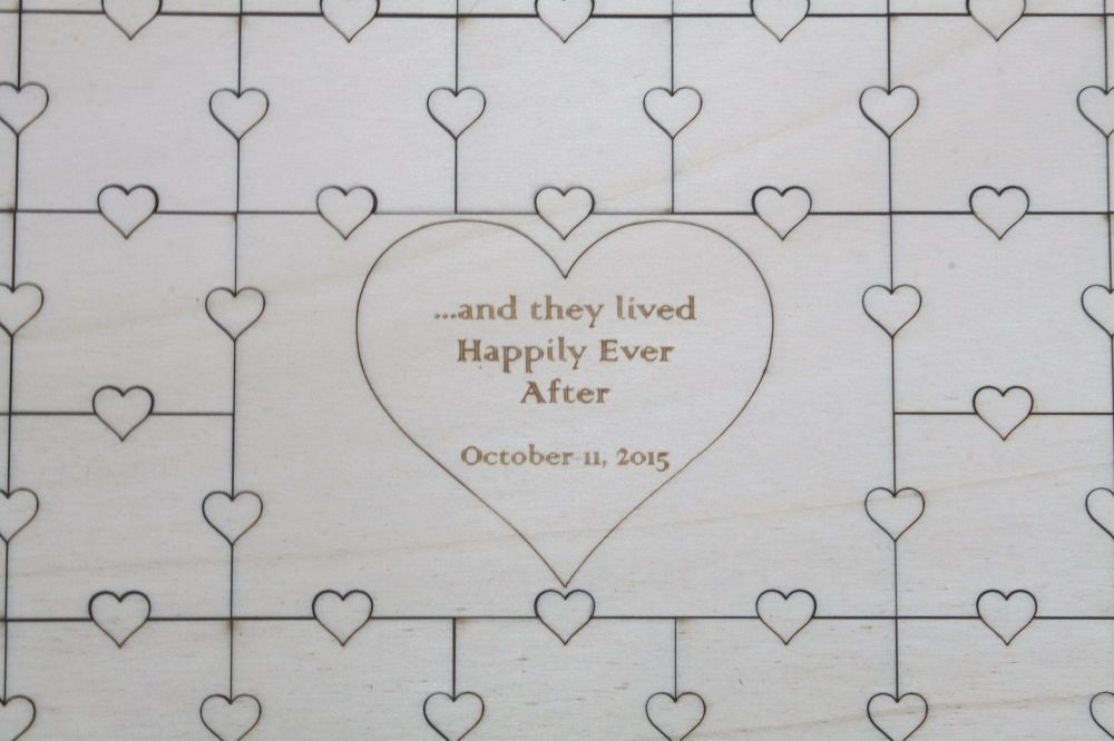 Large Wedding Heart Guest Book Jigsaw Puzzle