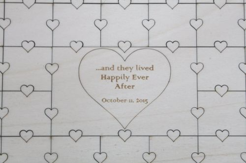 Large Wedding Guest Book Puzzle