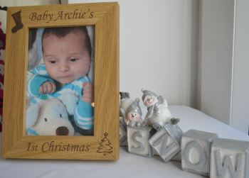 Personalised Baby's 1st Christmas Photo Frame