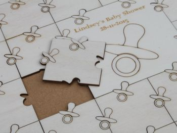 Baby Shower Guest Book Jigsaw Puzzle (Dummy) .