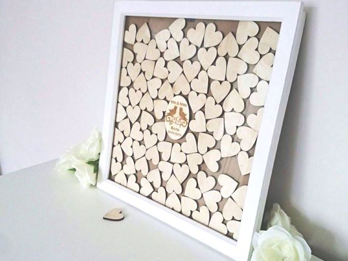 Large Personalised Wedding Drop Top Box Guest Book