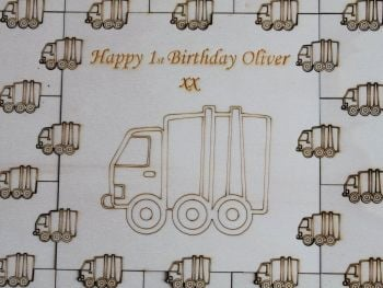 First Birthday Truck Guest Book Puzzle