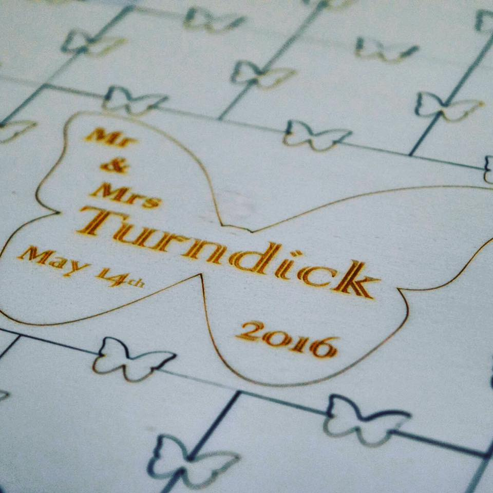 Small Personalised Wedding Guest Puzzle