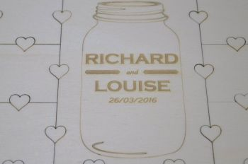Medium Personalised Wedding Guest  Book Jigsaw Puzzle