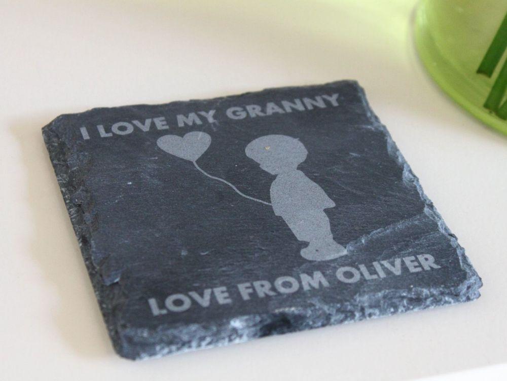 I Love My Granny Coaster (Boy)