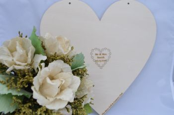 Wedding Guest Book Personalised Hanging Heart