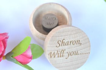 Personalised Will You Marry Me? Ring Box