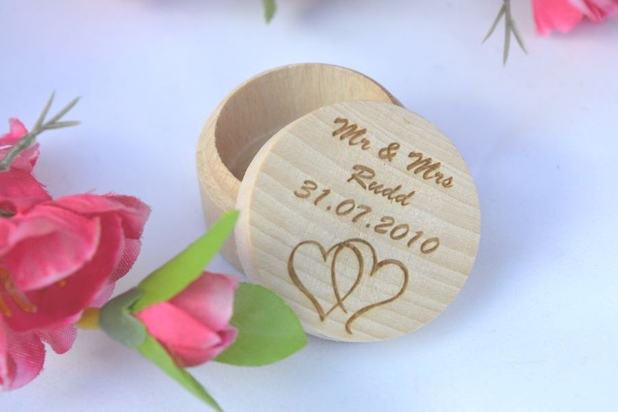 Personalised Wedding Ring Boxes