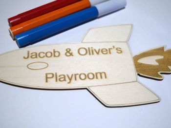 Children's Personalised Space Rocket Door Sign