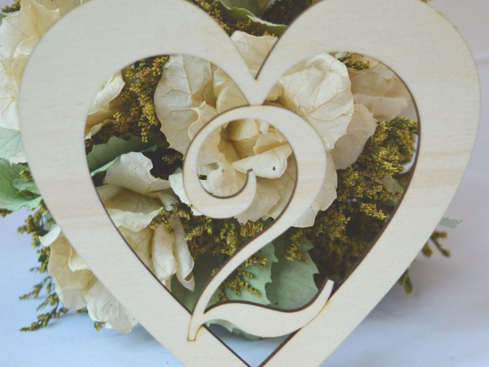 Large Rustic Wedding Heart Table Numbers.