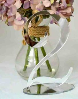 Silver Mirror Acrylic Table Numbers