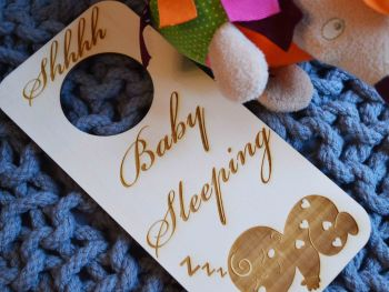 Personalised Baby Nursery Door Hanger