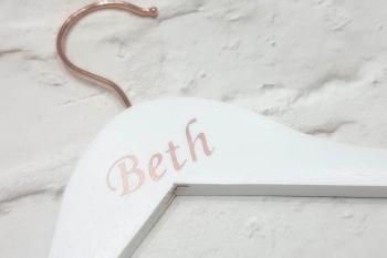 Rose Gold Wedding Hanger Personalised