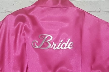 Rose Pink Bride Wedding Robe