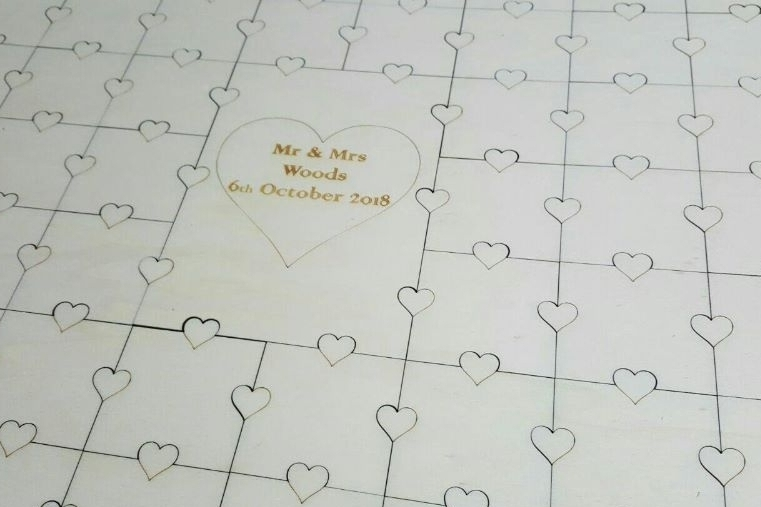 Personalised Wedding Guest Book Puzzle