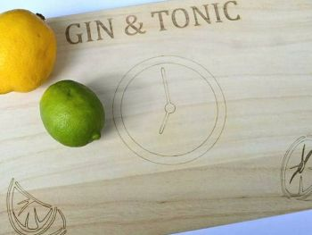 Gin & Tonic Time Chopping Board