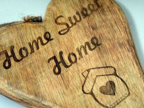 Home Sweet Home Hanging Heart
