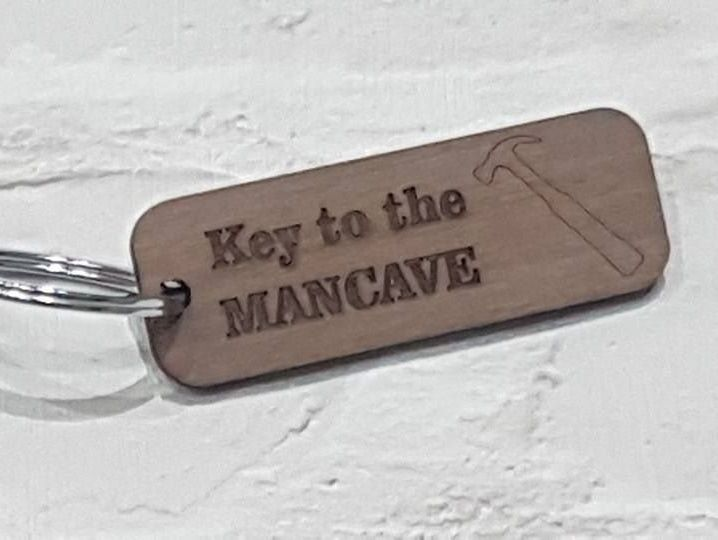 Key To The Man Cave Keyring, Ideal Gift For All Occasions