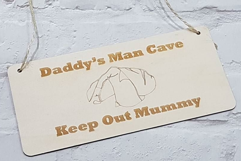 Mancave Wooden Sign
