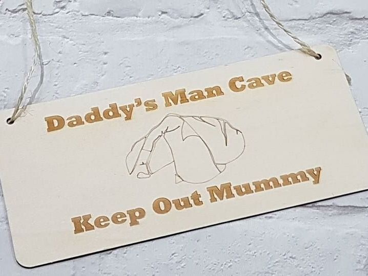 Daddy's Man Cave Wooden Sign