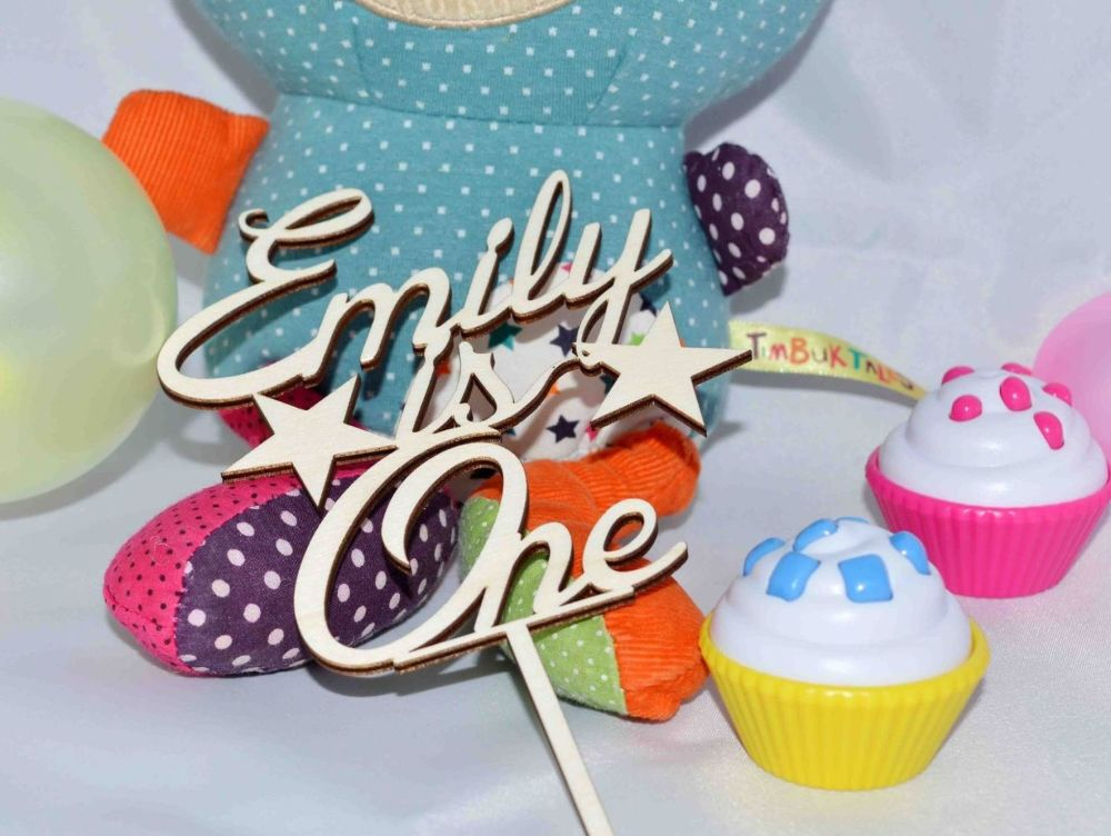 Personalised 1st Birthday Cake Topper