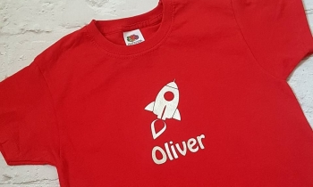 Boys Personalised Rocket T-shirt