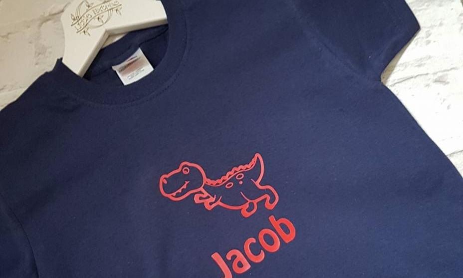 Boys Personalised Dinosaur T-shirt