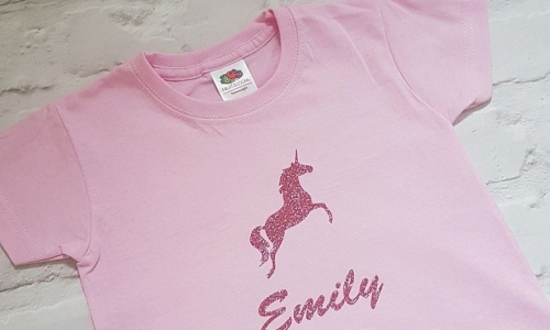 Personalised Unicorn T-shirt Top