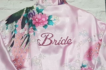 Pink Bride Wedding Robe