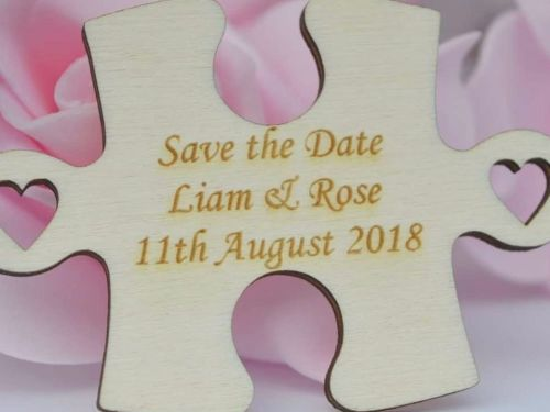 Jigsaw Puzzle Save The Date Magnets